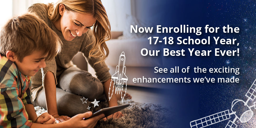 Now Enrolling for Fall   Calvert has more waysto make homeschooling better than ever! See the great enhancementswe've made for 17-18.  Learn More >
