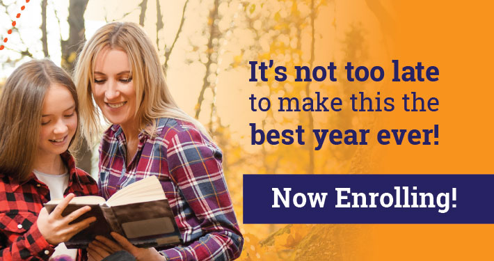 It's not too lateto make this thebest year ever!   Calvert enrollsstudents year-round!   Begin with a FREE placement test
