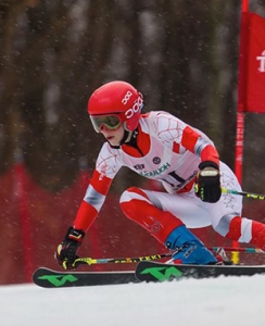 Devynn Martin, Calvert student and competitive skier with the US Ski & Snowboard Association.
