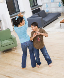 Mom and son Dancing