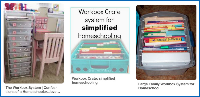 Pinterest workbox organization ideas for homeschooling multiple students
